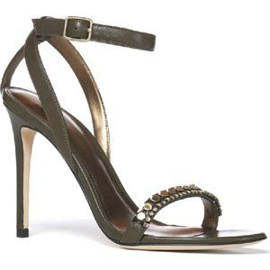 "Paige Brand NEW ""gwynn"" heel ankle strap beaded"
